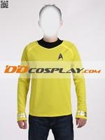 Star Trek Into Darkness James T Kirk Yellow T Shirt Cosplay Costume