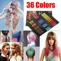 36 Colors Easy Temporary Pastel Non-toxic Hair Chalk Dye Soft Hair Pastels Kit DIY  Melky Dlya Volos Crayons for Hair