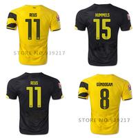 Camisa Borussia Dortmund 14 15 Soccer Jersey Home REUS Gundogan Football Shirts Jersey 2014