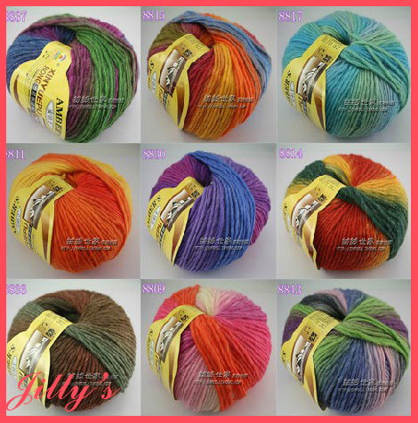 Wool Yarn 100g* 5balls/lot 500g wool dye scarf sweater coat handmade knitting yarn for knittingthickness 5mm needles(China (Mainland))