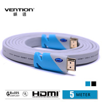 5m blue Standard HDMI Cable Blue color computer and TV Cable 1.4V 1080P HD Ethernet cabo vention