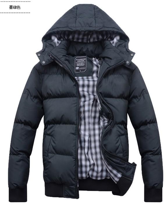 Nuovo 2014 degli uomini abbigliamento abbigliamento invernale imbottito giacca impermeabile uomo giù cotone- cappotto imbottito spessi calda anatra giù& parka caldo