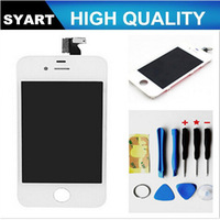 1 PCS Black and White Color LCD Display+Touch Screen Digitizer Panel +Holder Assembly For iphone 4/4s