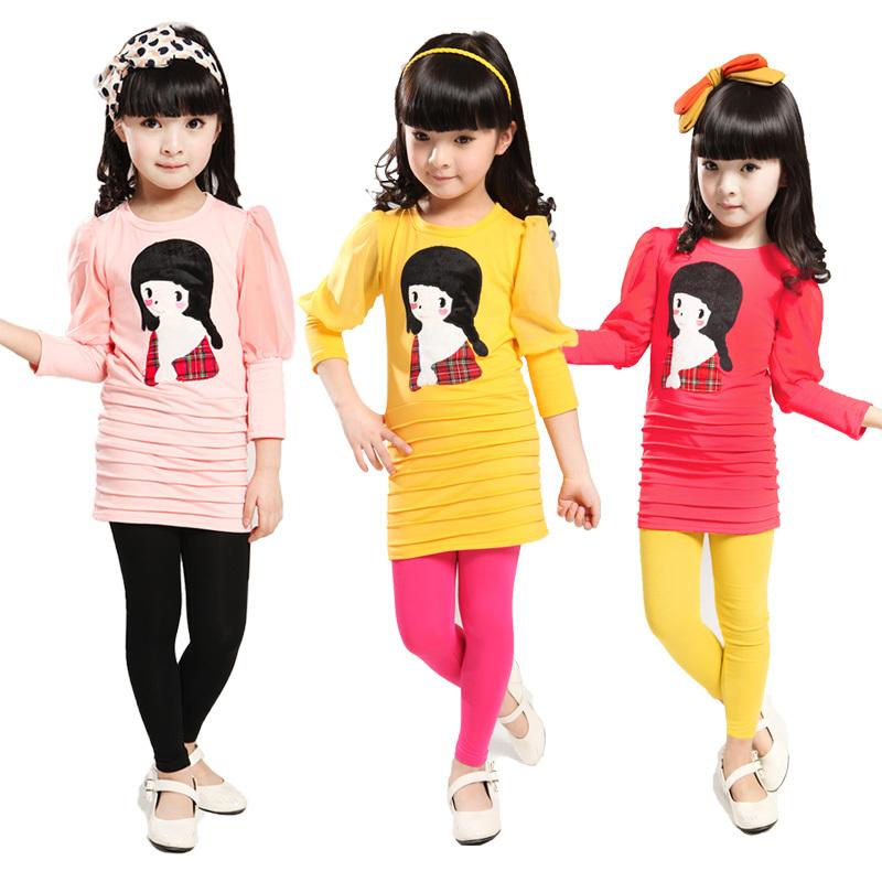 AliExpress.com Product - 2013 children's clothing autumn female child set cat bow top twinset bk60a9 harem pants