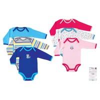 3pcs/lot Luvable Friends Baby Bodysuits,Warm Seasonal Design100% Cotton Long Sleeve Baby Clothing 0-3,3-6,6-9,9-12months