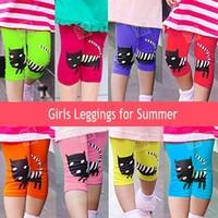 Retail new 2014 Girl Leggings Cute Children pants Free Shipping Autumn -summer Legging For Girls