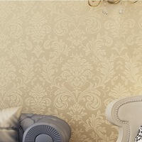 non-woven wallpaper gold background wall wallpaper damask classic wall papers home decor bedroom tapete for living room wp123