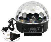 Newest DMX 512 Digital RGB LED laser projector Crystal Magic Ball Effect disco light DJ Stage Lighting 20W 90-240V 8935..
