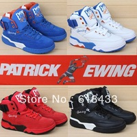 new 2014 famous brand Genuine Leather  men basketball shoes sneakers 33 Ewing in black blue white red  orange in 40-45