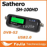 Original Sathero SH-100HD Pocket Digital Satellite Finder Satellite Meter HD Signal Sat Finder with DVBS2 USB 2.0 Free Shipping