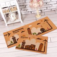 2015 Hot Sale IKEA  Home Decoration Doormat Global Travel Carpet Cartoon Kitchen Suede Mats travel prayer mat foam mats
