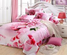 Amazing!100% COTTON 4pcs full 3d bedding set  bedding sheet set  with duvet cover flat sheet pillow case free shippping(China (Mainland))