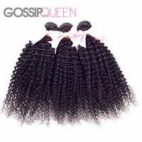 5A grade malaysian virgin hair kinky curly  8'-30' natural black hair malaysian curly hair 3 pcs free shipping human hair weave