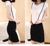New Candy Color Girl Braces Summner New Skirt Suspender Skirt Female Slim Hip Skirt Short Skirt Elastic All-match In Stock