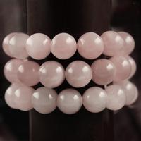 "Free shipping 4-10mm Nature Pink Quartz Imitation Gemstone Beads Pick Size 15""Diy Bracelet Necklace For Jewelry"