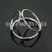 Men Delay Sex Toys Penis Rings Stainless Steel Chastity Ejaculation Delayer Cock Ring Lock Loop Triple Scrotum Cock Ball Ring