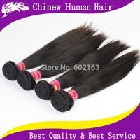 Unprocessed Brazilian Hair Weft Queen Hair Products Human Hair Brazilian Virgin Hair Straight Extension 4pcs/lot