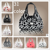 2014 New Women's Faux Leather Tote Hobo Bag Printing Shoulder Handbag Ladies Clutch Travel Messenger Bags