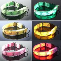 Free Shipping 10pcs/lot Cartoon Mouse Dog Flashing Collar, LED Glowing Pet Safety Collar.
