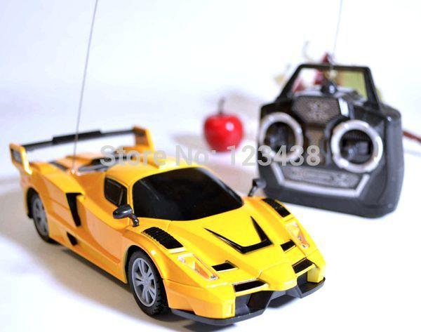 enfants de contrôle radio orange jaune télécommande rc racing course de voiture de sport