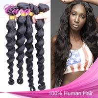 Peruvian Virgin Hair Loose Wave Hair Extensions Mixed 3pcs Lot Virgin Peruvian Loose Curly Hair Weaves Cara Hair Products