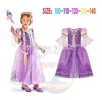 1PCS,2014 new luxury Frozen clothes elsa anna princess dresses Costume kids baby girls Dress frozen party