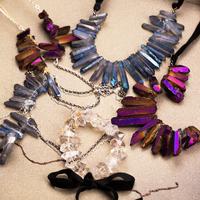 2014 New Brand Vintage Aniseikania Natural Mineral Quartz Crystal Holy Energy Handwork Pendant Necklace#CN002