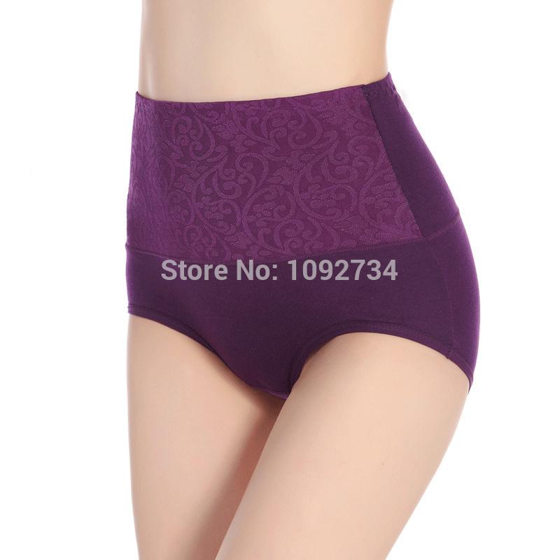 3 pcs/lot Elegant New Design Sexy Lace Women High Waist Panties Slimming Lady Panties Lace Underwear Lace Panties(China (Mainland))
