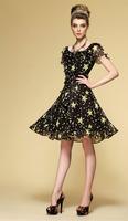 Bohemian silk long skirt/Silk chiffon knee-length dress/3 colors