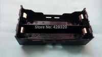 "2014 New 10pcs/lot Black Plastic Battery Holder Case Storage Box for 2*18650 holder 7.4V"" without Wire 18650 battery holder diy"