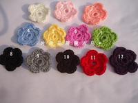DIY  Crochet flowers Headband For Infant Babys Girls Kids  small shoe Knitting flower Children Kids' Hair Accessories