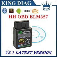 HH OBD Mini ELM327 Bluetooth Factory price elm327 V2.1 OBD2 Diagnostic Scanner Work on Android Symbian Windows ELM 327