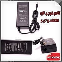 Free Ship ! 19V 4.74A 5.5*3.0mm AC Adapter For notebook samsung R428 R410 R65 R520 R522 R530 R580 R560 R518 R410 R429 R439 R453