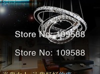Free shipping LED Crystal Chandelier Lighting Modern Dining room Pendant Lamp Creative Design (3 ring 70*50*30 cm)