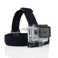 [Gopro Accesories] New Adjustable Camera Head Strap Mount For GoPro Hero3 Go Pro 2 3 Hero HD Hero2 Headstrap Black B2 TK1434