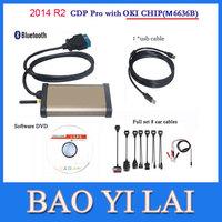 Newest 2014 R2 Car CDP Pro For AUTOCOM  Cars & trucks(Compact Diagnostic Partner ) OKI CHIP Car diagnostic tool OBD Scanner