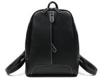 NEW 2014 HOT !!! Sale Women Designer Brand Printing Backpack Daily Backpacks Women's PU Leather Black Student School Bag rugzak