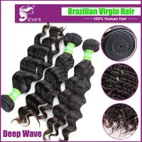 Evas 7A brazilian deep wave virgin hair,8-30inch brazillian deep wave,7A brazilian virgin hair weaves virgin hair extension