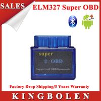 2015 Hottest OBD2 OBD-II Super Mini ELM 327 V2.1 Bluetooth Car Auto Diagnostic Scanner ELM327 Super OBD Scanner Drop Shipping
