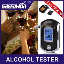 2014 NEW Hot selling fashion Professional Mini Police Digital LCD Breath Alcohol Tester Breathalyzer AT6000 Free shipping(China (Mainland))