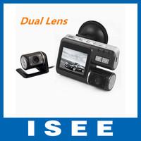 HD night vision Dual Lens H.264 rearview parking camera car DVR Dashboard Car vehicle Camera 1080 DVR CAM G-sensor 5 2