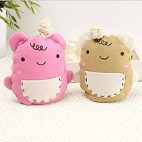 Free Drop Shipping 5 pieces/lot Korean cute drawing cartoon bear pocket key fob pocket key fob key chain L023