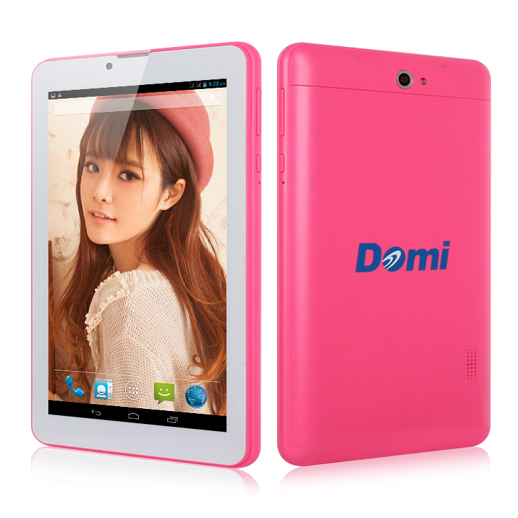 3g 3g tablet pc téléphone domi x6 mtk8312 dual core android ghz 1.3 1g/8g 4.2 gps double caméra bluettoth otg