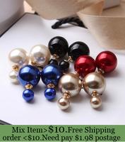 ZH0797 good Quality  New Arrive 2014  Fashion statement women pearl stud earrings brand earrings