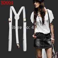 BD004-- Hot sale 3 Y -Back 1.5cm width  Men's braces pants suspenders for women free shipping