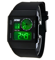 Fashion Unisex LED Digital Sports Watches, Skmei Brand 30m Waterproof Jelly Silicone Quartz Watch Multifunctional Wristwatch