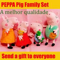 4PCS/Lot Hot Sale Anime Baby Toys Peppa Pig Toy 30CM Daddy Mummy Pig+19CM George Peppa Pig Plush Family Stuffed Doll Set
