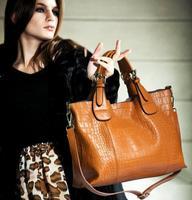 Bag 2014 crocodile pattern Pressed leather women's handbag fashion bag for women one shoulder handbag cross-body women's bag