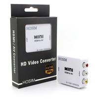 Hosim HDMI to AV Composite RCA CVBS Video + Audio Signal Converter HDMI2AV For TV PS3 PS4 VHS VCR DVD