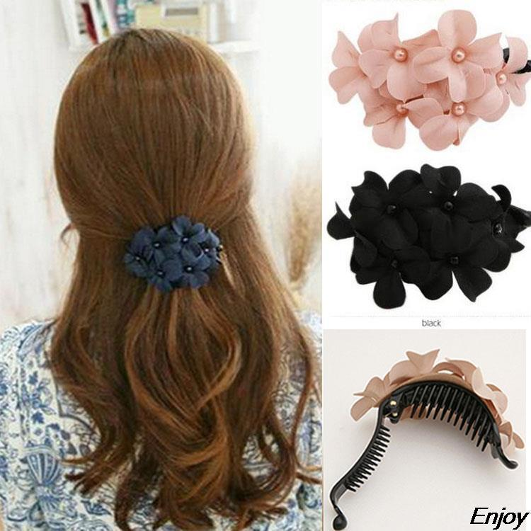 Designers Fabric Flower Hair Clips Girls Headwear Hair Band/Barrettes/Fascinator/HairGrip for Women Hair Accessories Hair Clip(China (Mainland))